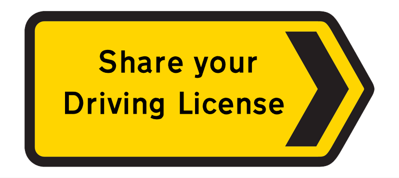 Share Your Driving License
